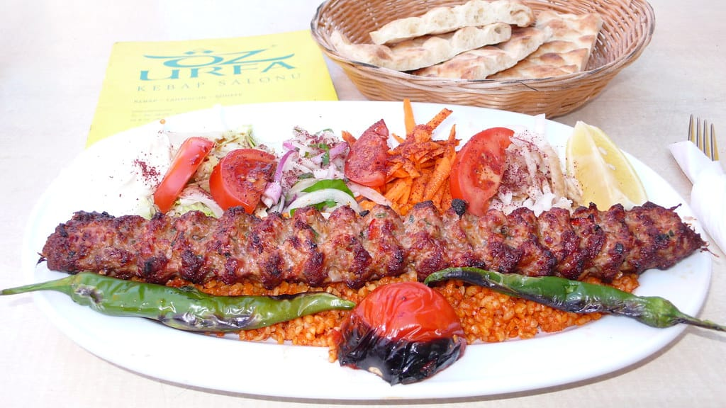 foods that start with a, adana kebab