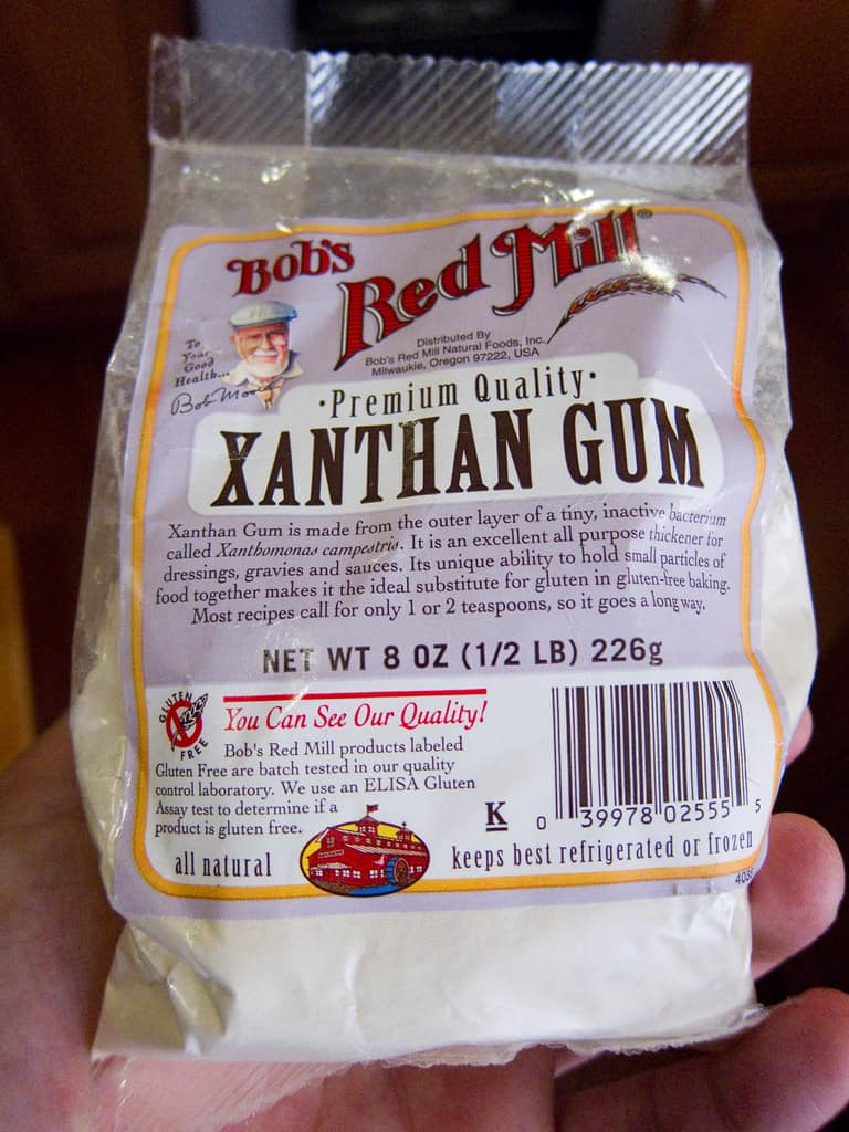 Xanthan Gum is a white powder, is one of the foods that start with X
