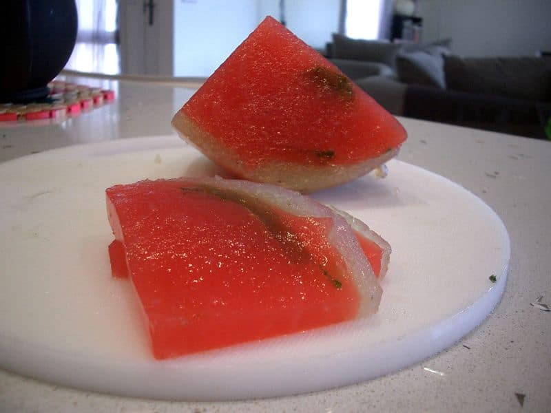 Xi Gua Lao looks like a slice of watermelon and one of the foods that start with X