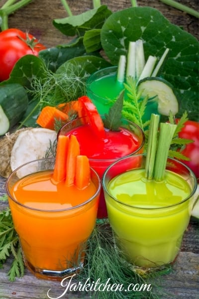 vegetables, juice