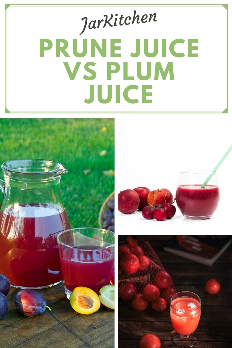 details of prune juice vs plum juice