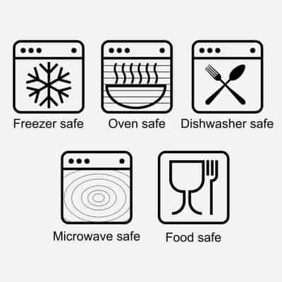 Can you put a glass in the oven? This picture shows the glass type symbols
