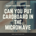 can you put cardboard in the microwave